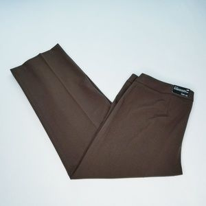 Sytle & Co Julie Brown Straight Leg Pants -14P-NWT